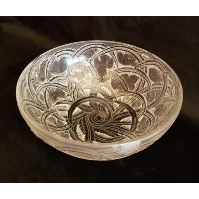 Lalique France Crystal Salad Bowl, Finches Model
