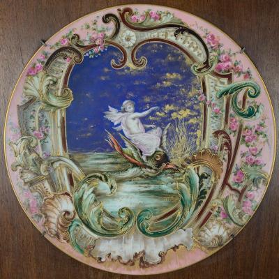 Limoges Porcelain Plate - Haviland - Signed Cfh Gdm - Late Nineteenth