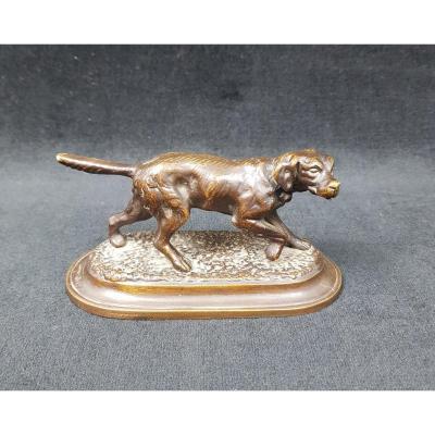 Bronze Petit Chien De Chasse