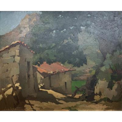 Huile Sur Toile - Paysage De Corse - Luc Lepetit (1904-1981)