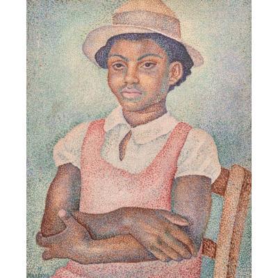 Marevna (1892-1984) - Huile Sur Toile - Portrait De Jeune Fille