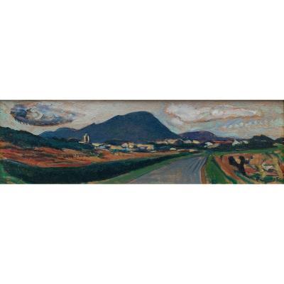 Oil On Wood - Pic Saint Loup (hérault) - Pierre Pruvost (1921-2008)