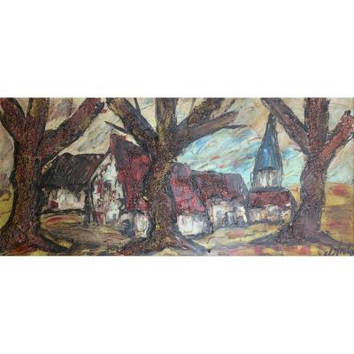 Huile Sur Toile - Paysage - Henry d'Anty (1910-1998)