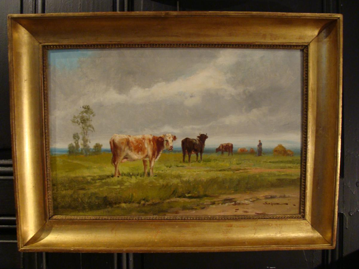 Animated Landscape, Cows In Pasture