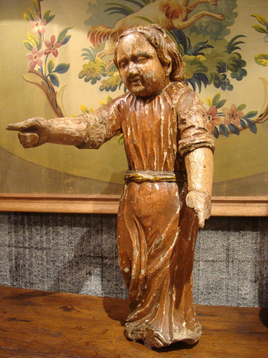 Statue En Bois Sculpté
