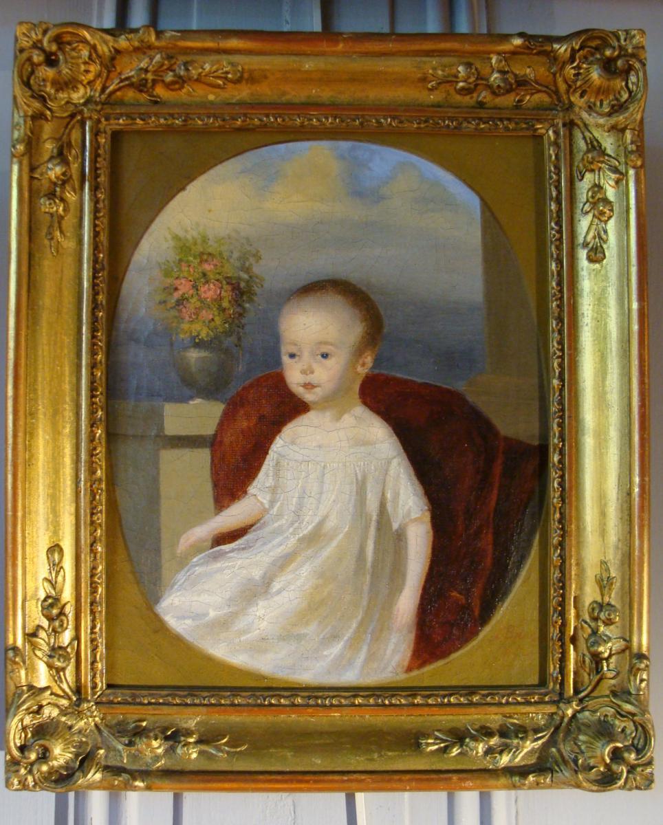 Portrait d'Un Enfant Daté 1853