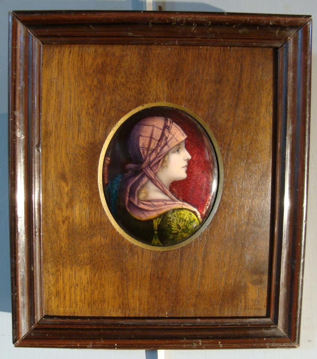 Portrait En émaux De Limoges De Bonnaud