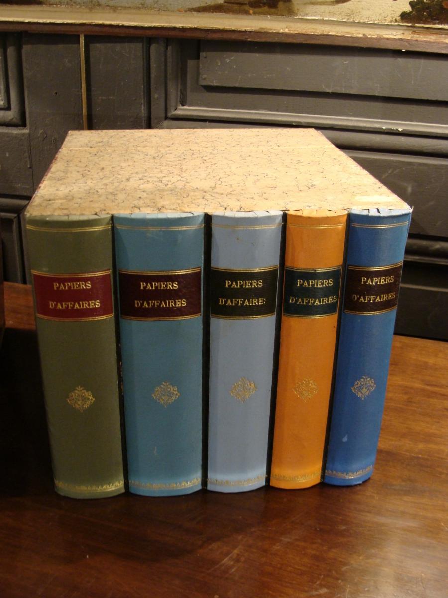 2 Boites Cartonniers En Faux Livres-photo-3