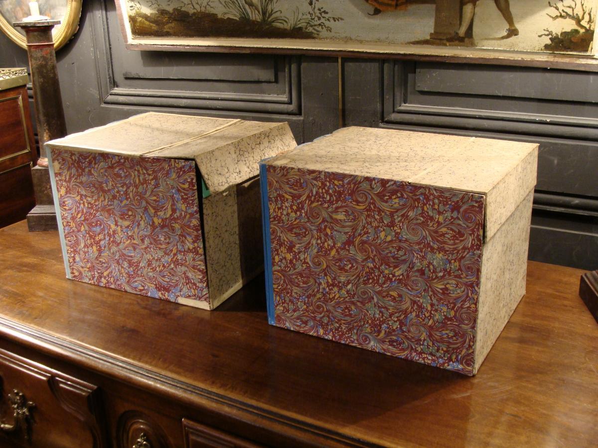 2 Boites Cartonniers En Faux Livres-photo-1