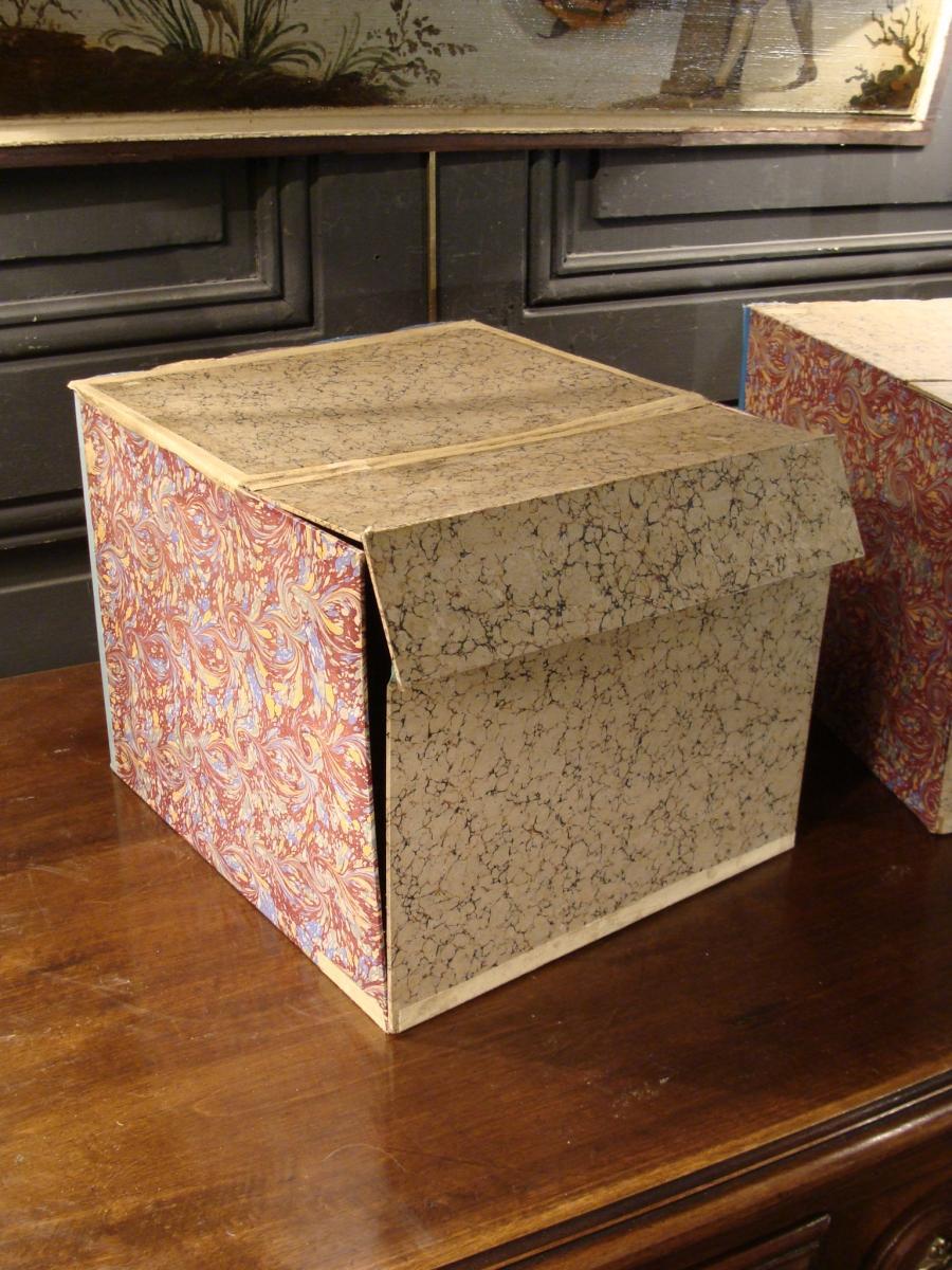 2 Boites Cartonniers En Faux Livres-photo-4