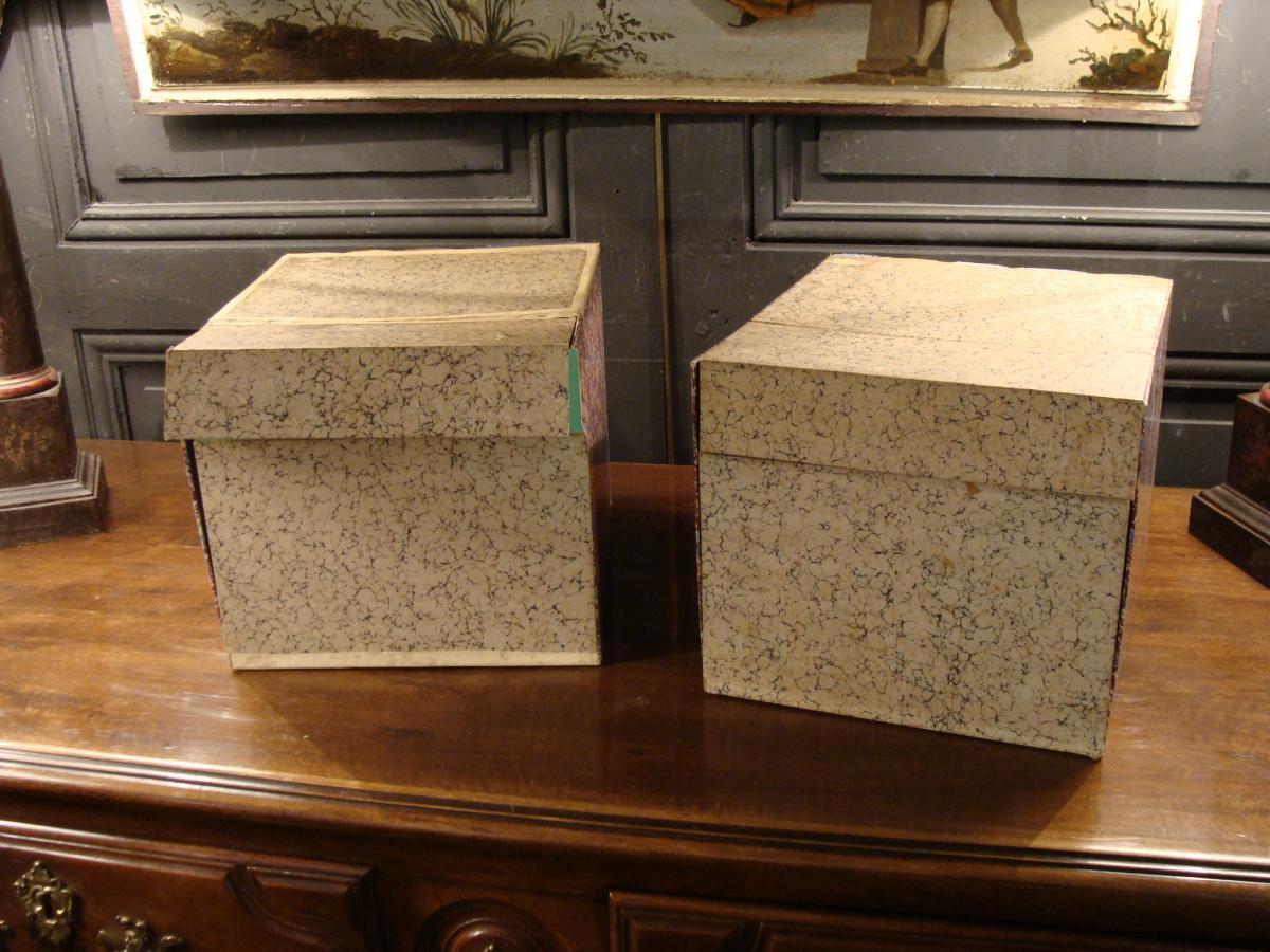 2 Boites Cartonniers En Faux Livres-photo-5