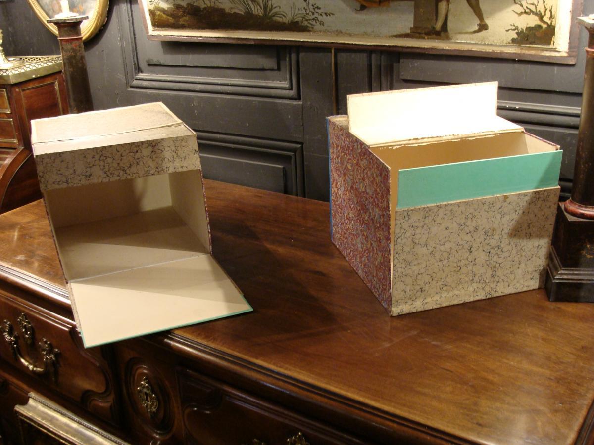 2 Boites Cartonniers En Faux Livres-photo-6
