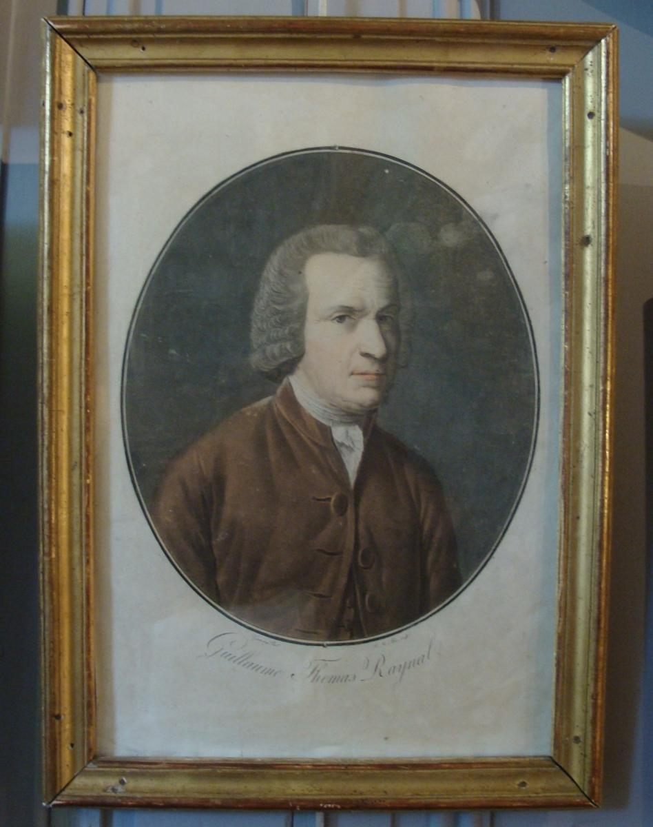 Portrait In Aquatint By Guillaume Thomas Raynal