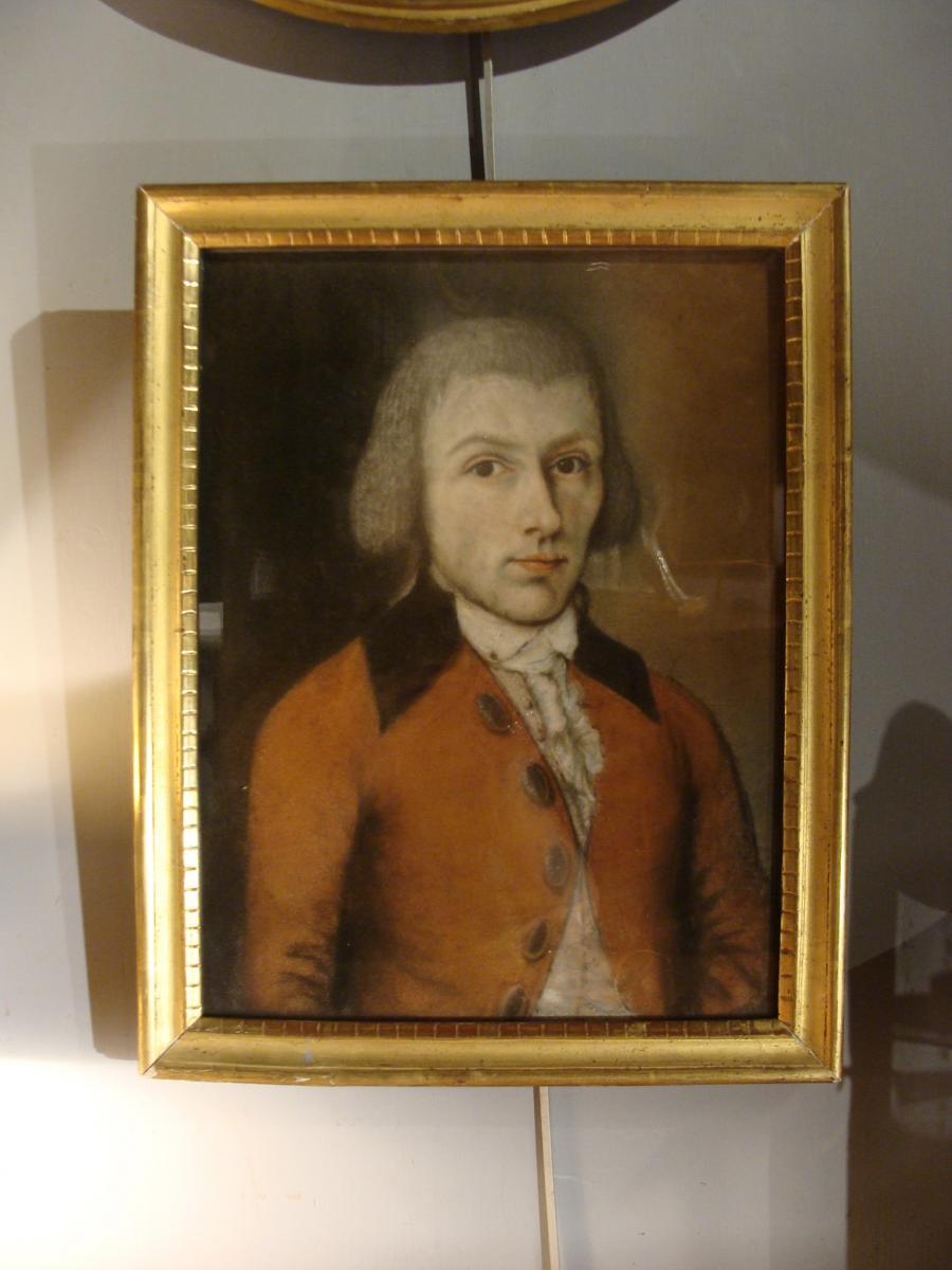 Portrait d'Homme, Pastel XVIIIème-photo-2