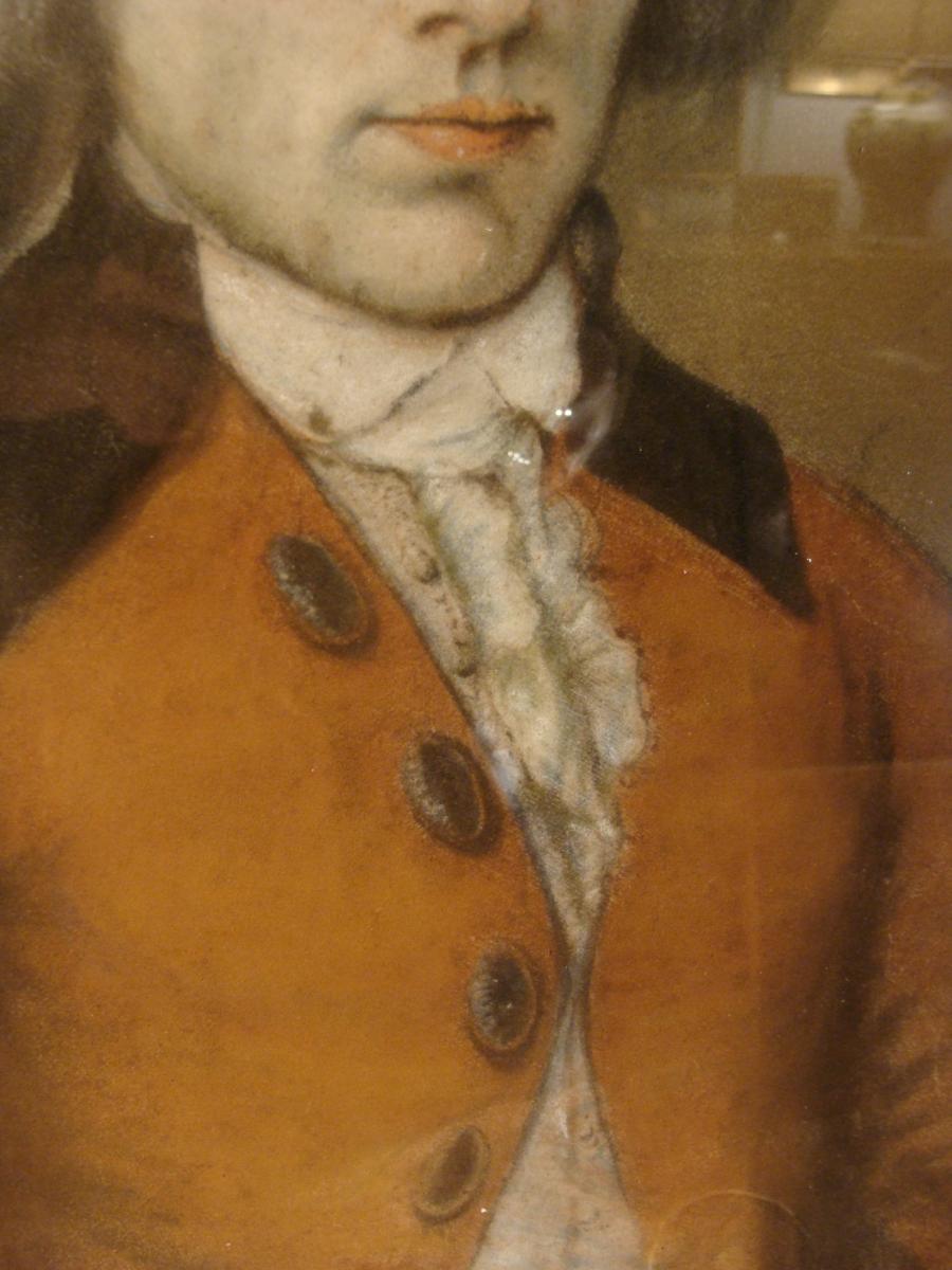 Portrait d'Homme, Pastel XVIIIème-photo-4
