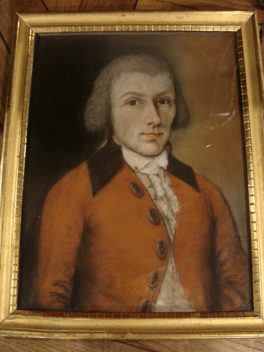 Portrait d'Homme, Pastel XVIIIème-photo-3