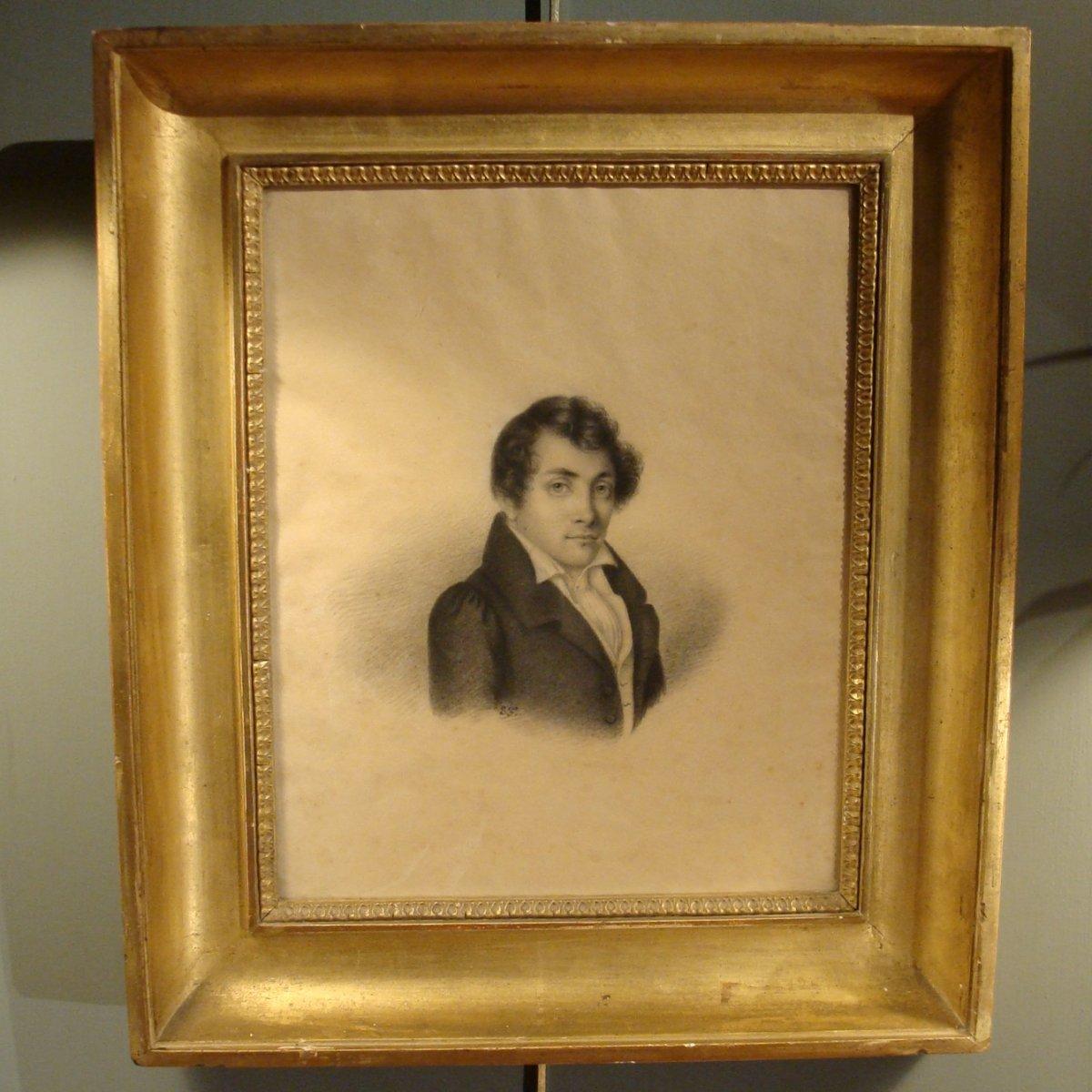 Portrait d'Homme , Dessin XIXème