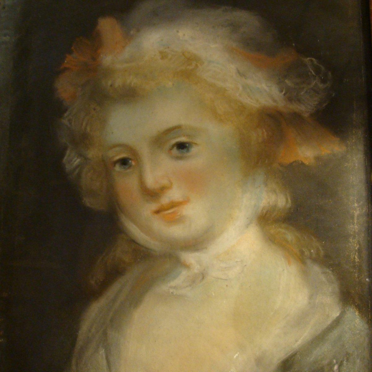 Portrait d'Une Jeune Fille, Pastel 18ème