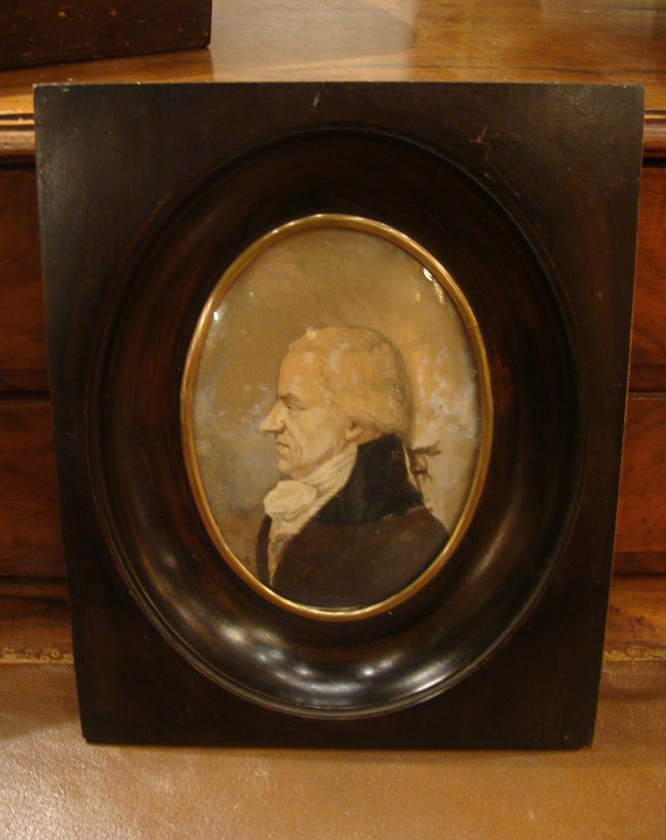 Portrait De Profil d'Homme Début XIXème