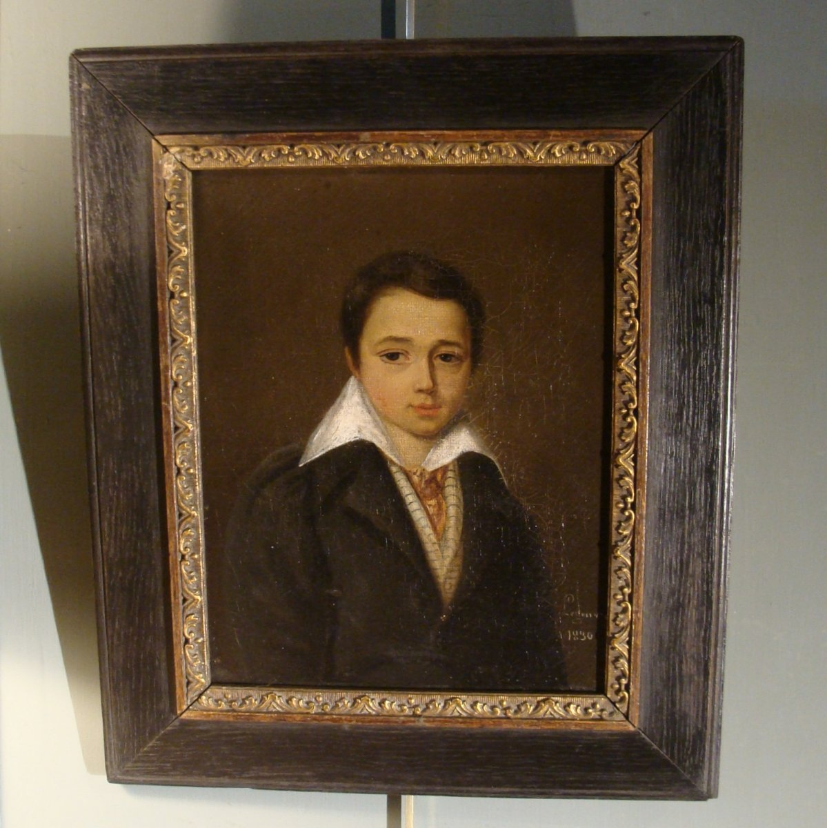 Petit Portrait d'Un Garçon Daté 1830