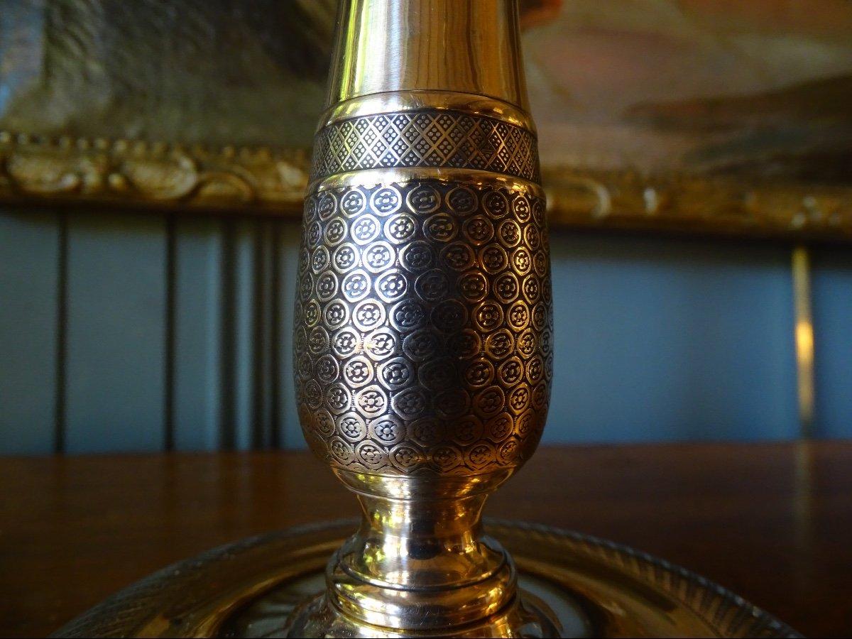 Paire De Lampes En Bronze Ciselé 19ème-photo-5