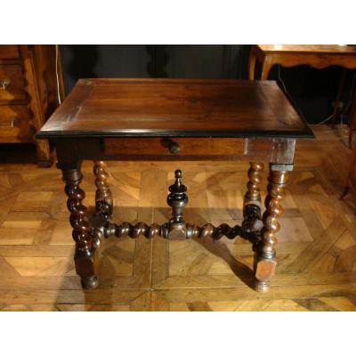 Table Louis XIII En Noyer