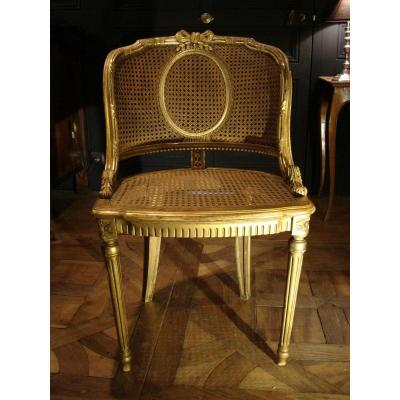 chaise ancienne tabouret ancien sur proantic louis xvi directoire. Black Bedroom Furniture Sets. Home Design Ideas