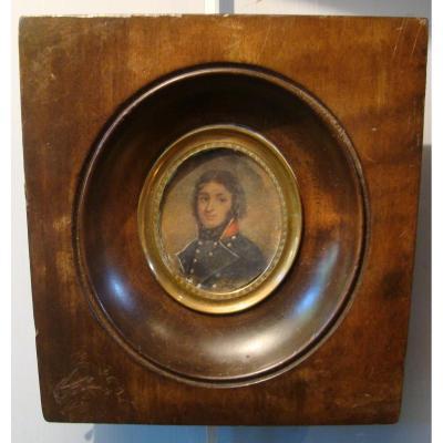 Portrait d'Un Militaire, Miniature XIXème