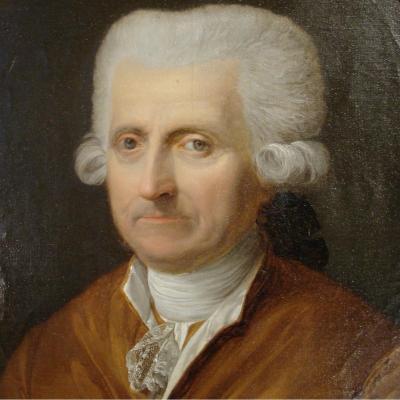 Portrait 18ème d'Un Gentilhomme En Médaillon
