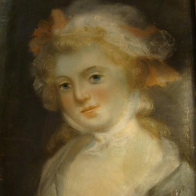 Portrait Of A Young Girl, Pastel 18th