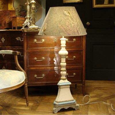 Painted Wood Floor Lamp