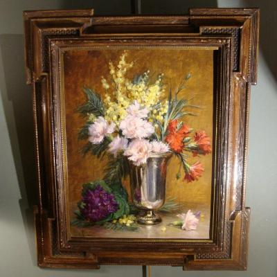 Still Life With Flowers By Désiré Alfred Magne
