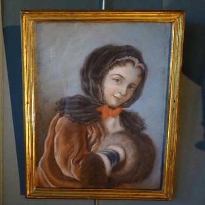Portrait d'Une Jeune Fille Au Manchon