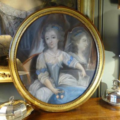 Portrait De Mademoiselle Duthé, Pastel XVIIIème