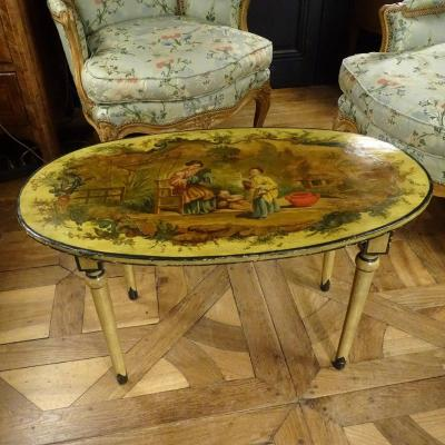 Table Basse En Bois Peint