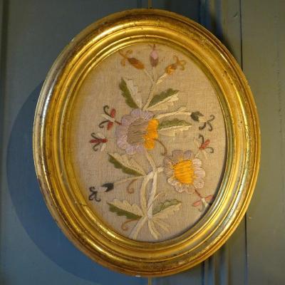 Fleurs, Broderie XIXème