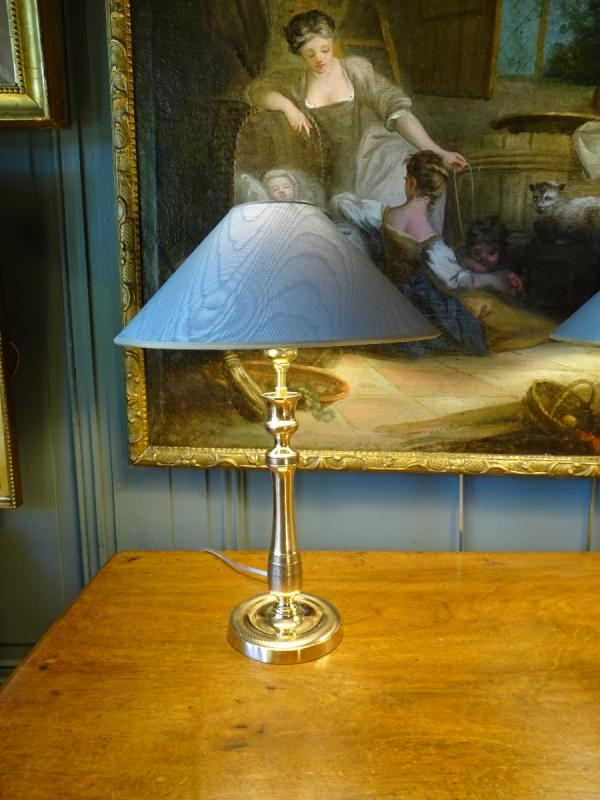Paire De Lampes En Bronze Ciselé 19ème-photo-3