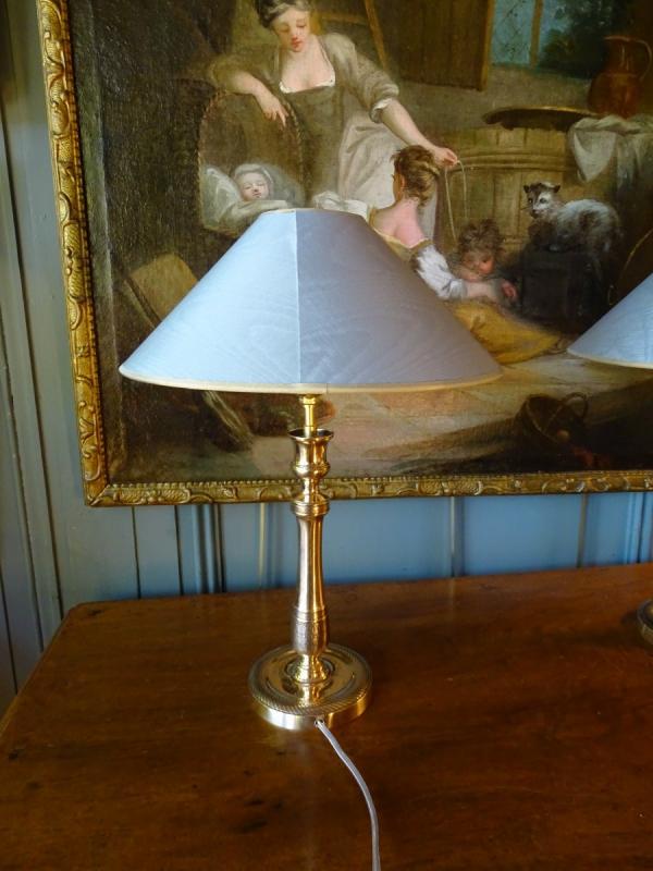 Paire De Lampes En Bronze Ciselé 19ème-photo-4