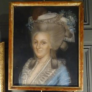 Portrait De Dame De Qualité, Pastel 18ème