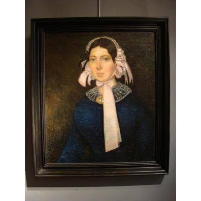 Portrait De Jeune Femme XIXème