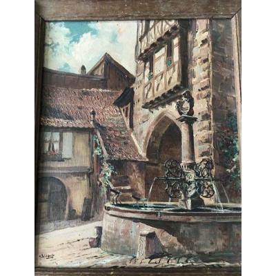 Marcel Wibault Riquewhir Fontaine de la  Sinne 1939