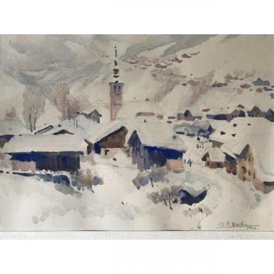 Morzine In The Snow 1942 Haute Savoie