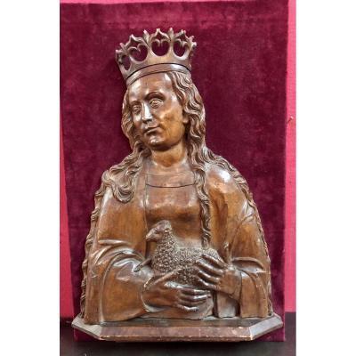 Sainte Agnès (bas Relief)