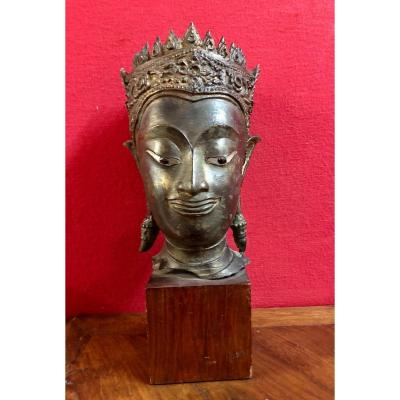 Crowned Buddha Head
