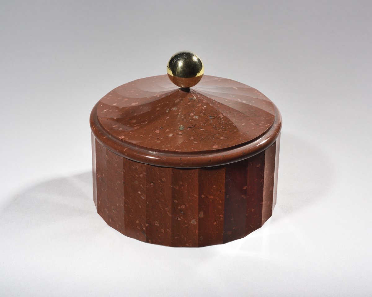 Porphyry Box From Sweden, Beginning Of XIXth Century