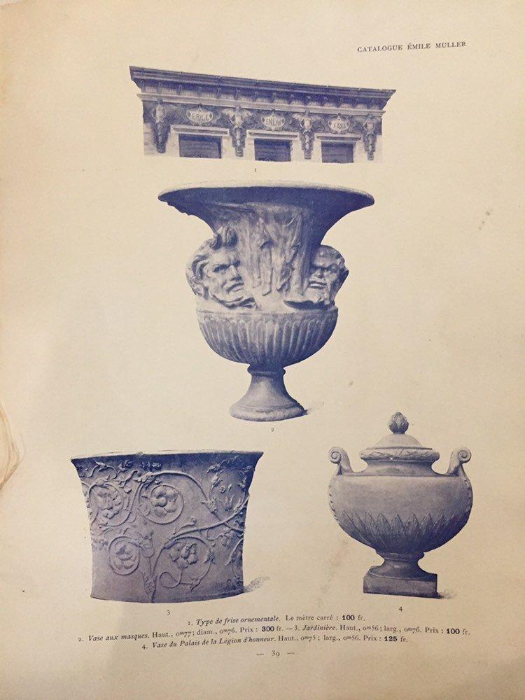 Emile Muller. Pair Of Vases Covered In Glazed Stoneware, Around 1880