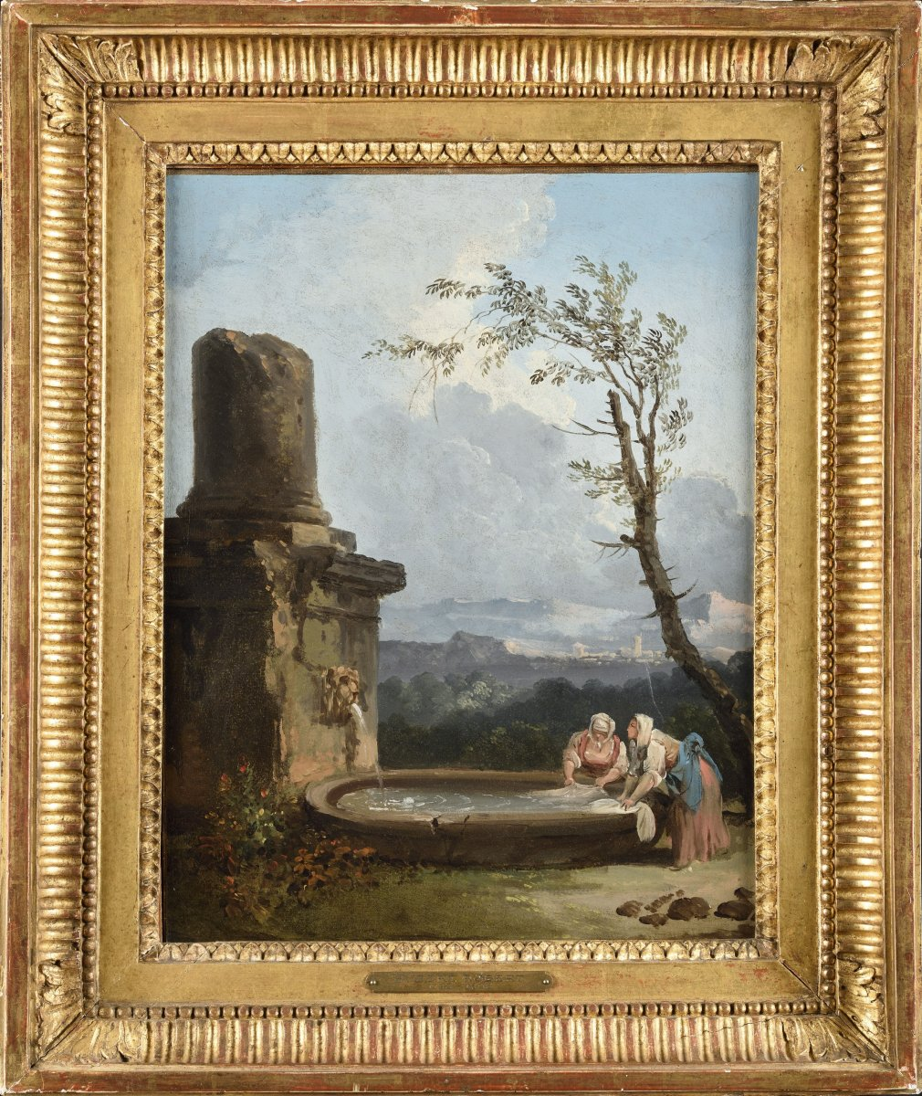 Attributed To Hubert Robert - Les Lavandières