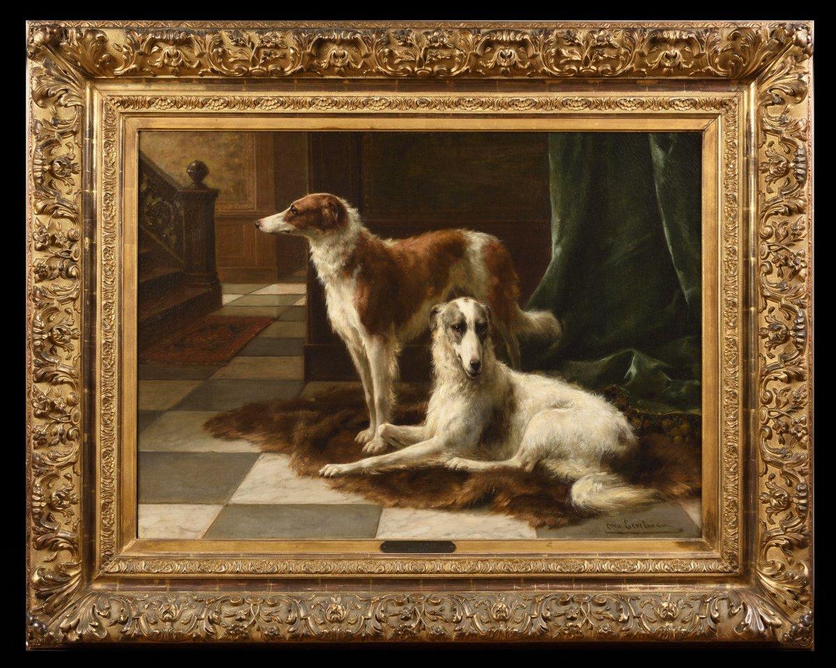 Otto Eerelman (1839 - 1926)  - Two Barzoïs