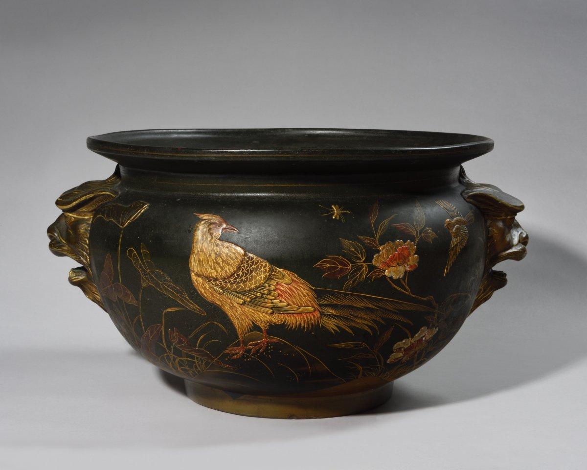 Planter - Auguste Majorelle - Terracotta From La Manufacture De Toul - 1874/1876