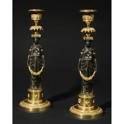 Pair Of Directoire Candlesticks